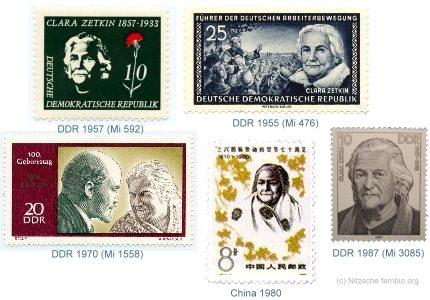 Clara Zetkin på frimærker : Clara Zetkin on stamps