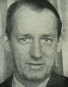 Børge Houmann (1902-1994), Dansk modstandskæmper, udgiver, redaktør, skribent, kommunistisk politiker, MF, ca. 1945. Foto: Ukendt. Public Domain.