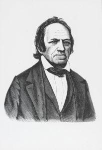 Jacob Jacobsen Dampe, Jacob Jacobsen (1790-1867) skolemand, politiker. Grafik: ukendt kunstner. (CC BY-NC-ND 3.0).