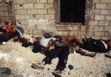 Sabra- og Chatila-massakrene - et af de blodigste kapitler i palæstinensisk historie - kunne ikke have fundet sted uden den aktive støtte fra den israelske hær, der besatte Beirut - Foto: Arkiv. Source: chroniquepalestine.com.