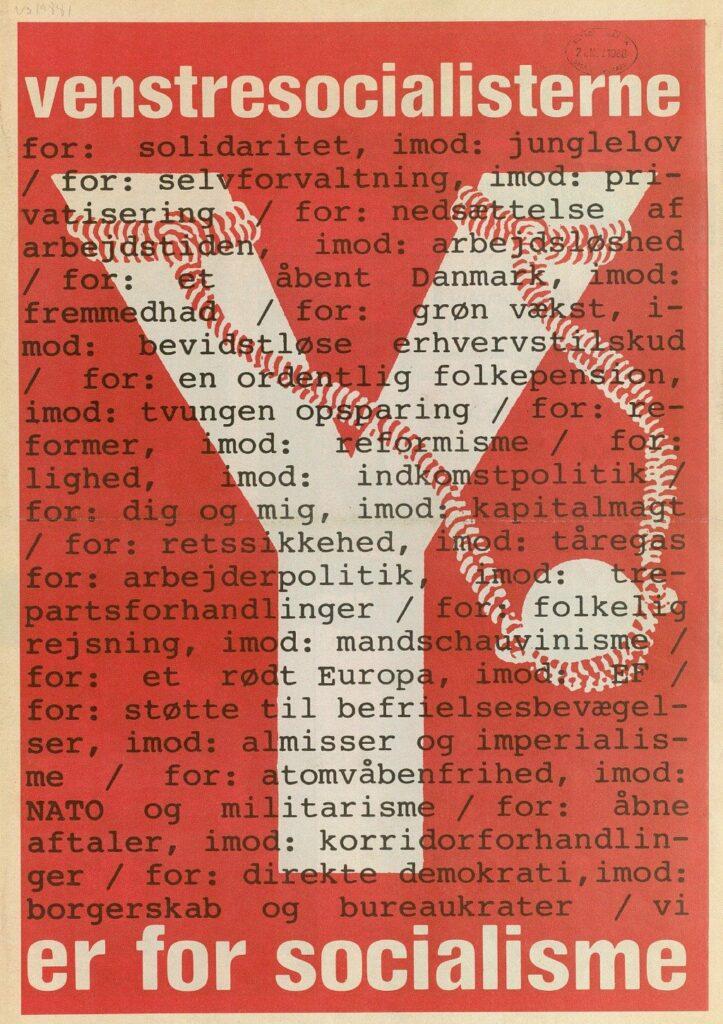 Valgplakat for VS fra 1967