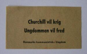 DKU-Løbeseddel fra fredsarbejdet i 1950'erne