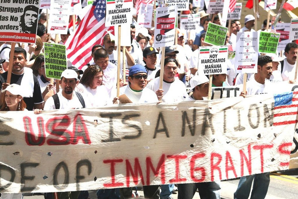 "USA is a Nation of Immigrants. Photo: Thomas Hawk (CC BY-NC 2.0) Source: <a href=""https://www.flickr.com/photos/thomashawk/138587392/"">flickr.com</a>"