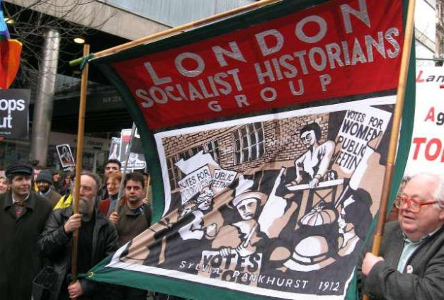 """The compiler of this bibliograpy, Ian Birchall, to the right. Source: <a href=""""https://www.facebook.com/London-Socialist-Historians-Group-150809894933530/photos/150809981600188"""">London Socialist Historians Group on Facebook</a>."""