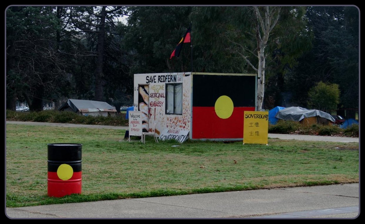 Save Redfern. Aboriginal Tent Embassy, Canberra, ACT, July 16, 2008. Photo: Jenny Scott. (CC BY-NC 2.0). Source: flickr.com