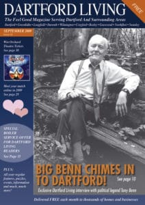 Dartford Living September 2009 Front Cover featuring Tony Benn. Photo: Dartfordliving. (CC BY-SA 3.0).