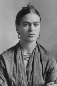 FridaPortrait of Frida Kahlo, 16 October 1932 Photo: Gelatin silver print by Guillermo Kalho/ Carl Wilkelm Kahlo (1871–1941), German photographer. Collection: Sotheby's. Public Domain.