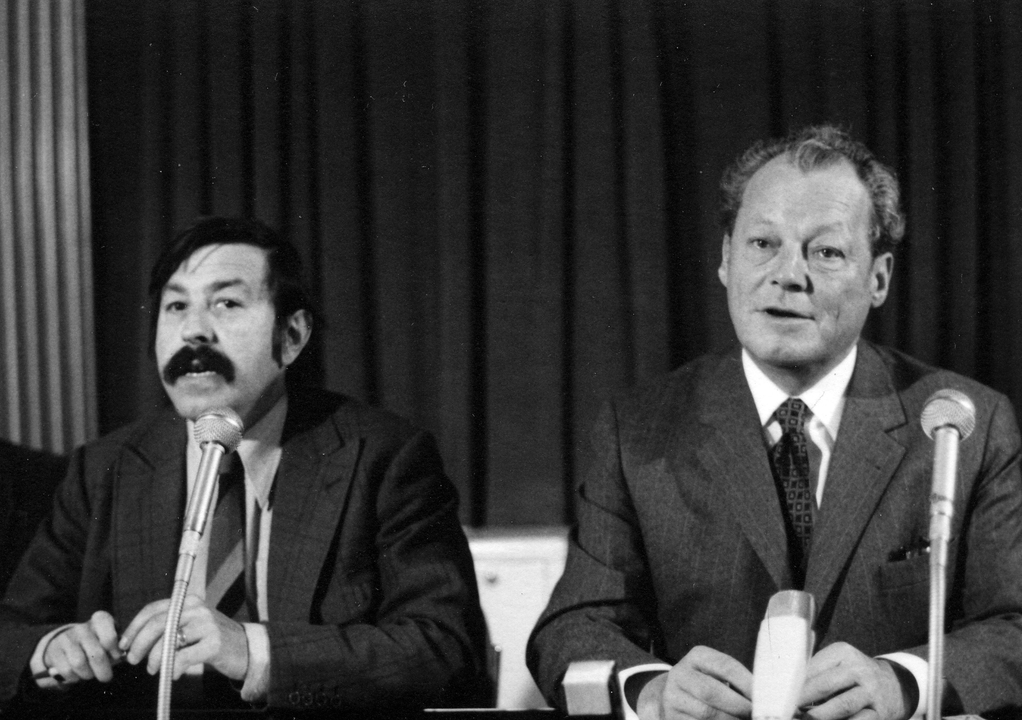 Willy Brandt and Günter Grass, 1972. Photo: Monster4711. (CC0 1.0).
