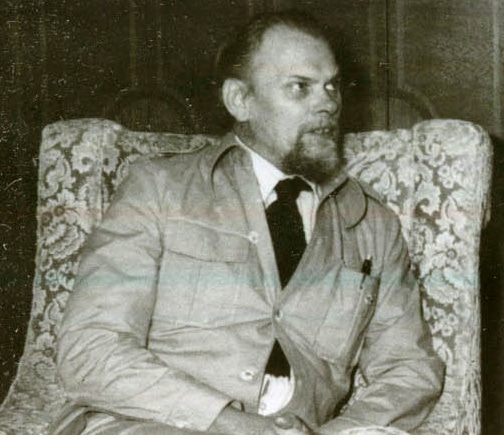 Gert Petersen under et møde med Nicolae Ceausescu, generalsecretær i P.C.R., Rumænien, 1. august 1978. Ophav: fototeca.iiccr.ro. Public Domain.