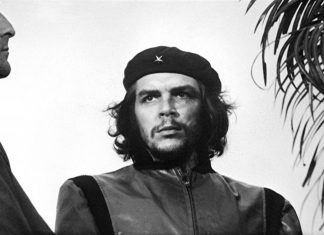 Guerrillero Heroico - Che Guevara at the funeral for the victims of the La Coubre explosion. Date: Photo taken on March 5, 1960, published within Cuba in 1961, internationally in 1967. Photographer: Alberto Diaz Gutierrez (Alberto Korda). Source: Museo Che Guevara, Havana, Cuba. Public Domain.