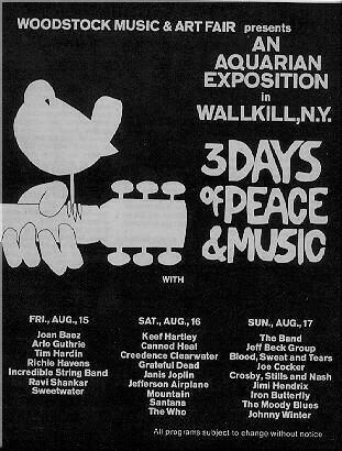 Poster from Woodstock 1969