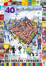 Plakat trykt af Eks-skolens Trykkeri i anledning af 40 årsdagen.