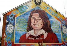Bobby Sands murmaleri i Belfast, 17. April 2006. Foto: Olaf Baumann. (CC BY-SA 3.0). Source: Wikimedia Commons.