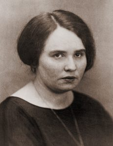 Ruth Fischer (1895-1961), dissident German Communist Party leader. Source: Photograph by Bain News Service, dated June 16, 1924. Public Domain