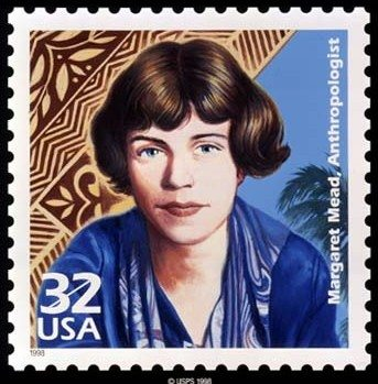 Frimærke med Margaret Mead