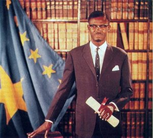 Official Congo government portrait of Patrice Lumumba as the Prime Minister of the Democratic Republic of the Congo, 1960. Photo: unknown, Republic of the Congo (Léopoldville) government. Public Domain.