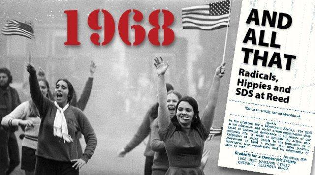 68-oprør i USA, Frankrig og Danmark.