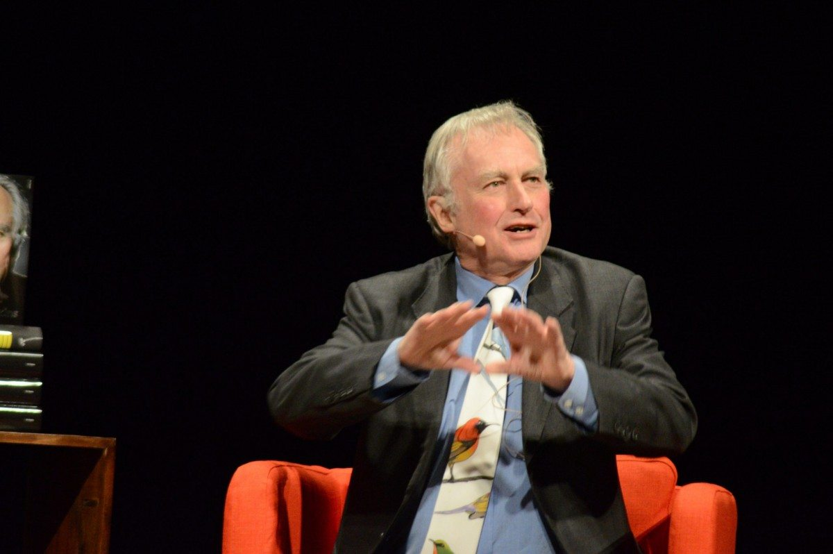 Richard Dawkins on stage in Stockholm. 12. December 2015. Photo: Anders Hesselbom. Public Domain.