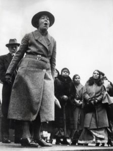 Suffragette Sylvia Pankhurst protesting the English policy in India. Trafalgar Square, London, England, [1907-1914]. Photo: Spaarnestad Photo, via Nationaal Archief. no known copyright restrictions.