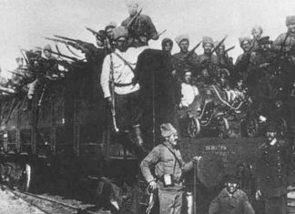 Muslim fighters from Tatarstan join the Bolshevik Red Army in 1918. Source: Dawn