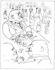 """""""Toads of property"""" by George Grosz, 1921. Photo taken on December 9, 2007 by Austin Kleon. (CC BY-NC-ND 2.0)."""