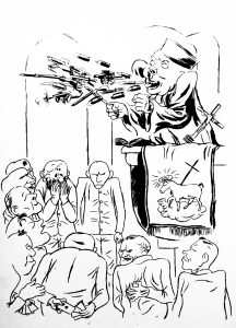 """""""Bullets from the Pulpit"""" by George Grosz. Photo taken on December 23, 2010 by Thomas Hawk. (CC BY-NC 2.0)."""