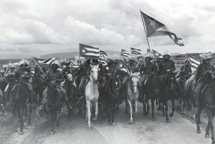 Raúl Corrales Forno famous image of the victorious 1959 Cuban Revolution entitled