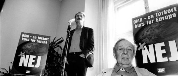 Holger K. taler mod ØMU'en op til valget år 2000. Foto: Brian Berg/Monsun.