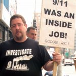 9/11 Truth Movement demonstrator, Los Angeles. Date: 28 October 2007. Source: 9/11 Was an Inside Job. Author: Damon D'Amato from North Hollywood, Calfornia. (CC BY 2.0)