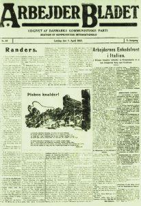 DKPs'Arbejderbladet' 8.april 1922