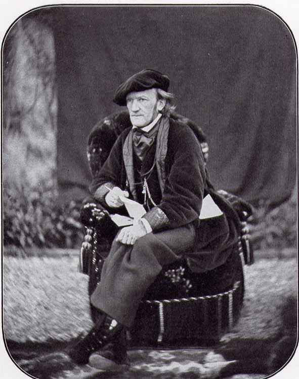 Richard Wagner in Luzern, 1868. Photo: Unknown. Public Domain.