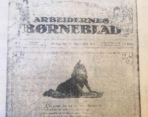 Øverste halvdel af første nummer. Kilde: foto i Social-Demokraten, 14.1.1919, side 3, spalte 5-6.
