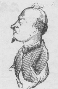 Bukharin. Selvkarrikatur, 1927.