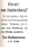 Opråb fra Sønderborgs Soldaterråd 1920