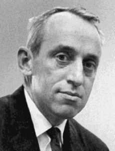 James Tobin at the Council of Economic Advisers. Approximately age 44. Tobin was Sterling Professor of Economics at Yale University, member of the Council of Economic Advisers, and Nobel Laureate in Economics, 1962. Photo: Unknown. Public Domain.