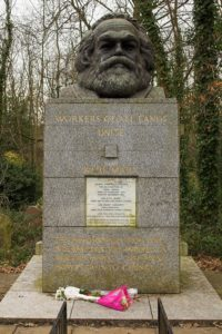 Karl Marx Tomb at Highgate Cemetery. Photographer: Markus Nilsson. 2006. Public Domain.