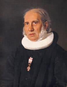 Nikolaj Frederik Severin Grundtvig (1843). Maleri af Christian Albrecht Jensen (1792–1870), dansk maler. Collection: Den Hirschsprungske Samling, København. Foto: Hans Jørn Storgaard Andersen, 2004. Public Domain.