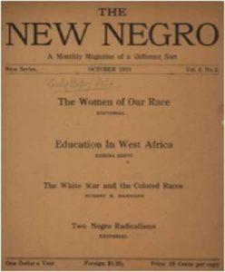 """""""New Negro"""" fra Oktober 1919. Redigeret af Hubert Harrison"""