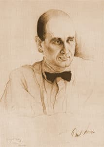 Paul Levi, German Communist leader. Drawn by Isaac Brodsky (1883–1939) at the 2nd World Congress of the Comintern, Moscow, 1920. Published in the book, 2oi Kongress Kommunisticheskogo Internatsionala. Public Domain.