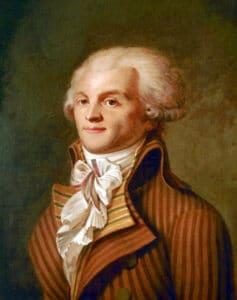 Portrait of Maximilien de Robespierre (1758-1794). Oil on fabric c. 1790 by unidentified painter. Collection: Musée Carnavalet, Paris, France. Public Domain.