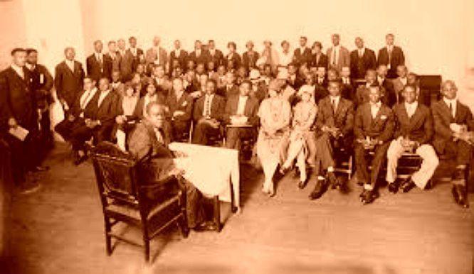 Hubert Harrison forelæser i Harlem 4. juli 1917. Photo: ikke angivet.
