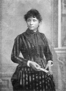Photo of Lucy Parsons taken in 1886. Photo: unknown. Public Domain.