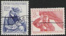 8-martsfrimærker fra Chekoslovakiet 1954