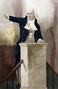Georges Danton (1759-1794). Engraving from 1849 by unknown artist. Public Domain.