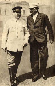 Joseph Stalin and Georgi Dimitrov, Moscow, 1936. Photo: Ukendt. Public Domain.