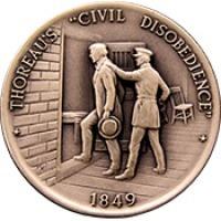 "Thoreau's ""Civil disobedience"" medal."