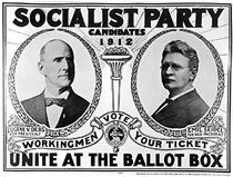 Campaign ad for the Debs and Seidel presidential ticket, 1912
