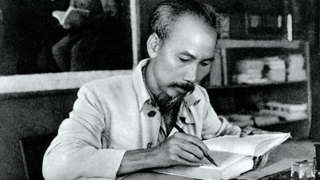 Ho Chi Minh was born in 1890. President Ho Chi Minh in his office at the Viet Bac resistance base in 1951.
