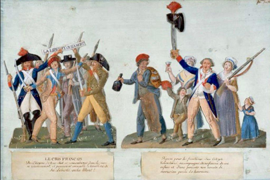 La Liberté ou la Mort ! – Liberty or Death. Gouache created around 1792 by Jean-Baptiste Lesueur(1749-1826), dessinateur. Collection: Musée Carnavalet, Histoire de Paris. Public Domain.