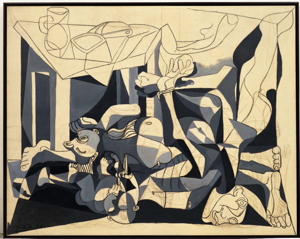 Pablo Picasso: The Charnel House, 1944–1945, oil and charcoal on canvas. The Museum of Modern Art New York/Scala, Florence. (CC BY-NC-SA 2.0).